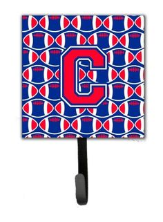 Letter C Football Harvard Crimson and Yale Blue Leash or Key Holder CJ1076-CSH4
