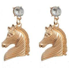 Modern Fashion Horse Crystal Earrings - Earrings-Jewellery & Organizers - TopBuy.com.au