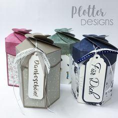 Plotterdatei Petal-Box von PlotterDesigns Cricut, Box, Gift Wrapping, Design, Gifts, Paper, Binder, Goodies, Packaging
