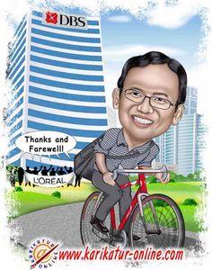 karikatur kenang-kenangan untuk farewell teman kantor