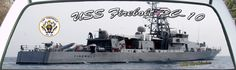USS Firebolt PC-10 is a US Navy patrol Boat rear window graphic mural.