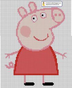 Peppa Pig Punto de cruz Free Cross Stiych Pattern Chart by alissa Jumper Knitting Pattern, Baby Sweater Patterns, Loom Knitting Patterns, Knitting Charts, Cross Stich Patterns Free, Melty Bead Patterns, Peppa Pig Imagenes, Crochet Skull, Cross Stitch For Kids