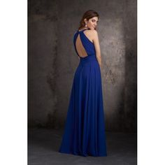 Newest Elegant Blue Long Women Bridesmaid Dresses UK with Halter A-line Chiffon Fabric Floor-length Bridesmaid Dresses Uk, Wedding Dresses, Chiffon Fabric, Elegant, Formal Dresses, Blue, Floor, Wedding Ideas, Women