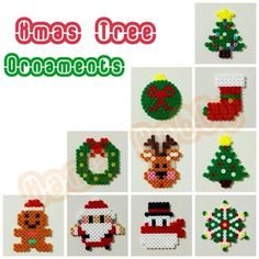 Christmas ornaments hama perler beads by Love Cupcoonka - www.facebook.com/hamabeadshobby by Nannagirl