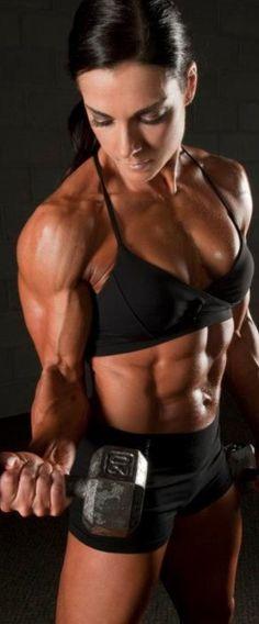 #fitness #muscle #motivation #girlpower #bodybuilding #muscular #woman #biceps #flex