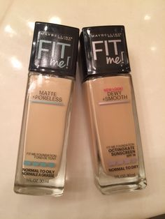 Review/swatches of the NEW Fit Me Matte & Poreless and Dewy & Smooth foundations! Great drugstore option!