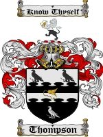 Thompson Coat of Arms / Family Crest Downloadable JPG | coatofarms - Graphics on ArtFire $7.75