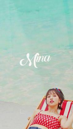 TWICE MINA Kpop Girl Groups, Korean Girl Groups, Kpop Girls, Twice Members Profile, Twice Group, Sea Wallpaper, Twice Fanart, Sana Momo, Jihyo Twice