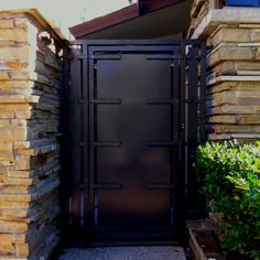 Exceptional Metal Gate. Stone Wall.