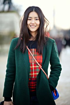 Liu Wen after Nina Ricci, Paris, February 2014