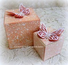 Redanne: Artist Trading Blocks - Wedding Favours Part 2 - Eileen hull Cube Sizzix dies, Paula Pascual Butterflies from the Big Shot Starter kit