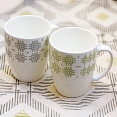 Welsh tapestry pattern mugs