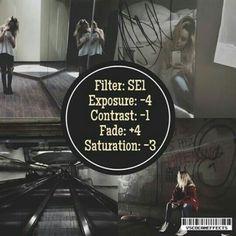 SE1 Exposure -4 Contrast -1 Fade +4 Saturation -3