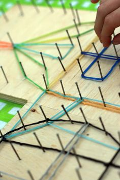 Easy DIY Geoboard- great for fine motor and keeps kids busy (boredom buster)