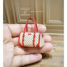 2017.09. Miniature Red Bag♡ ♡ By My Dollhouse