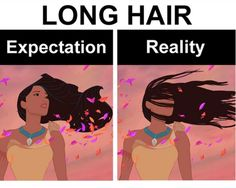 100 Disney Memes That Will Keep You Laughing For Hours Everybody with long hair knows this one