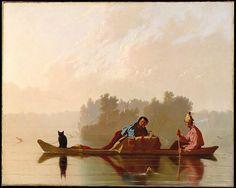Fur traders Descending the Missouri by George Caleb Bingham