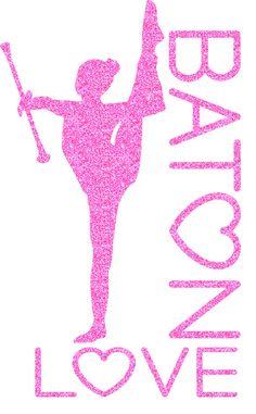 Baton Love Iron On Decal by GirlsLoveGlitter on Etsy