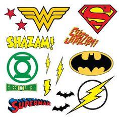 Flower Wall Decals, Vinyl Wall Decals, Wall Stickers, Comic Themed Room, Batman Room Decor, Superman, Be My Hero, Dc Comics Superheroes, Logo Sticker