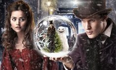 The Doctor and Clara in the episode 'The Snowmen'.