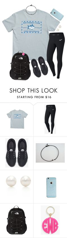 """""""wishing I could wear outfits like this to school everyday.. // Isabella"""" by preppy-southerners ❤ liked on Polyvore featuring NIKE, Tiffany & Co., The North Face and Moon and Lola"""