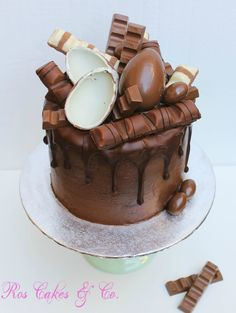 Kinder Drip Cake by Ros Cakes & Co.