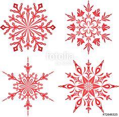 Vektor: Red Snowflakes