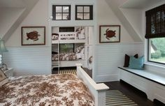 So many things to love! The sea turtle prints, the windows, the toile! Set of Revenge.