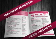 Laura Mercury Resume Collection in 2 by OriginalResumeDesign, $25.00