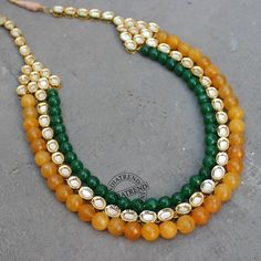 RASIMA NECKLACE  by Indiatrend. Shop Now at WWW.INDIATRENDSHOP.COM