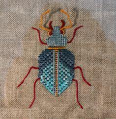 Hand embroidery: bug