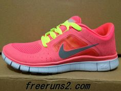 Womens Nike Free Run 3 Hot Punch Reflective Silver Sol Volt Neon Green Lace Sneakers 2013