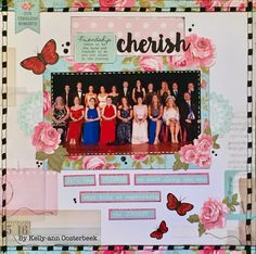 A Layout by Kelly-ann Oosterbeek made using the Miss Betty Collection from Kaisercraft. www.kellyanno.com