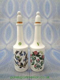 Portmeirion Botanic Garden Oil and Vinegar Bottle Set