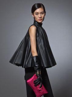 Leather Qipao top