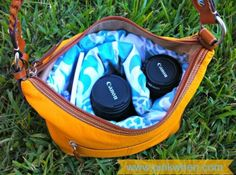 DIY Designer Camera Bag. I too have had trouble finding a bag I like perhaps this will be my next project