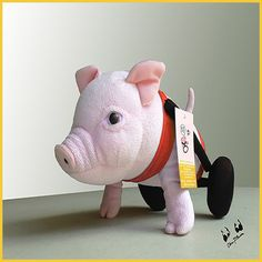 I am back in stock - get your own original stuffed pork on wheels here! #010 - Plushie Chris – Chris P Bacon's Store