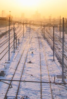 Sunrise over the railway