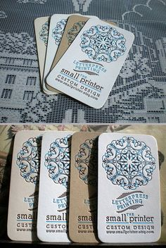 Letterpress - word of the day.     Letterpress Business Cards - Sample. $2.50, via Etsy.