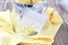Bucket of Sunshine with Printable Gift Tags by Crafting E for www.thirtyhandmadedays.com