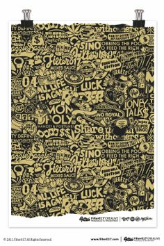 """Filter017 """"CASINO LIFE"""" Screen Printing Poster by Filter017"""