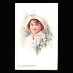 Vintage Postcard Little Girl by JMCVintagecards on Etsy Postcards For Sale, Vintage Postcards, Vintage Girls, View Image, Little Girls, Etsy, Baby Boys, Vintage Travel Postcards, Toddler Girls