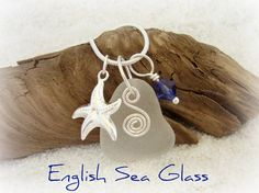 Seaglass Jewelry Pendant Necklace  English Sea by WelcomeJewelry, $18.00