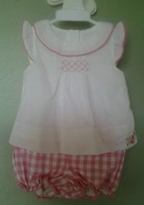 LN Janie and Jack Garden Paradise Smocked Bloomer Set 3-6 Months Reborn