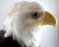 Needle Felted Art by Robin Joy Andreae: Bald Eagle Commission