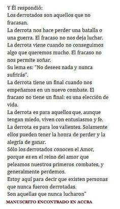 """Paulo Coelho, en su Twitter: """"¿Qué diferencia hay entre los derrotados y los fracasados?"""""""
