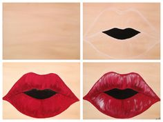 """Evolution of """"LIPS"""" painted @ Painting with a Twist Miami."""