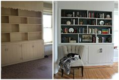 Built ins before and after
