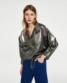Image 7 of CONTRASTING METALLIC TOP from Zara