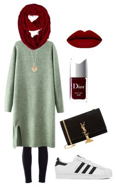 """Untitled #1"" by ditafairuz on Polyvore featuring Chicnova Fashion, Yves Saint Laurent, Betsey Johnson, Christian Dior, adidas, women's clothing, women's fashion, women, female and woman"